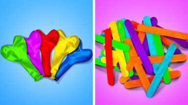 Colorful Crafts From Balloons And Popsicle Sticks || 5-Minute Recipes to Make Your Home Cozier!