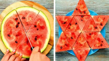New Ways to Cut Fruit And Vegetables || Useful Kitchen Hacks And Yummy Recipes For Everyone!
