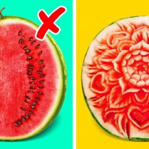35 Awesome Food Carving Ideas || Crazy Recipes With Watermelon You'll Love!