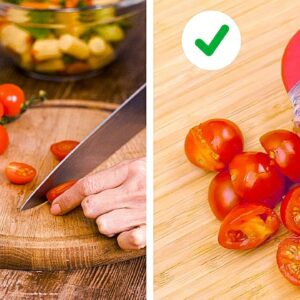 Simple Tips to Improve Your Knife Skills    Peeling And Cutting Hacks by 5-Minute Recipes!