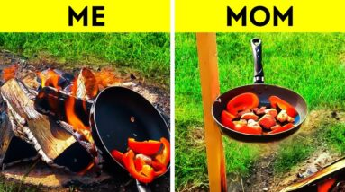 Me VS Mom || Delicious Recipes to Cook Outdoor!